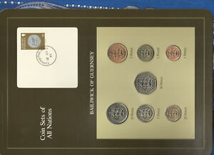 Coin-Sets-of-All-Nations-Guernsey-Brown-1979-1982-UNC-1-1981-Lily-13AP83