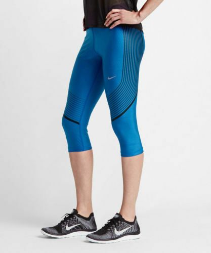 c6320b587a9d9 Nike Womens Power Speed Graphic Running Capris Tights Small Royal S for  sale online | eBay
