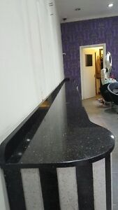 Black Galaxy Granite Sample Kitchen Worktops Ebay