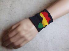 Bande poignet Afrique rasta élastique éponge wristband sweat band sport & mode