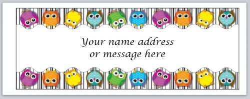 bo 465 Personalized Address Labels Cute Colorful Cartoon Owls Buy 3 Get 1 free
