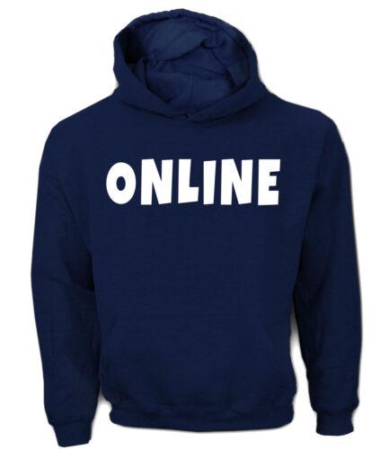 Uomo Hoodie-online-giocare d/'azzardo Team-funshirt umorismo Fun divertimento culto FUNNY FRASE