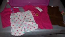 SUMMER BABY GIRL CLOTHING SET 4 ITEMS GREENDOG/CHILDREN'S PLACE 24 MONTHS NWT