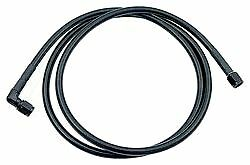 Black Coated Steel Braided Line Aluminum Anodized Ends # 2 3 4 Straight Hose