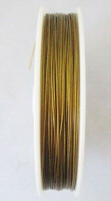 1 Roll 100 M Golden Tiger Tail Beading Wire 0.45mm C80
