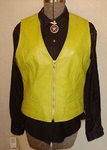 Ladies Western Saguaro Leather Show Vest L Shirt M MINT