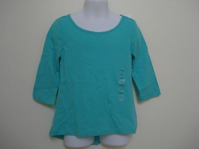 GAP KIDS Girls Blue Aqua Long Sleeve Top Size XS,S,M,XXL NWT