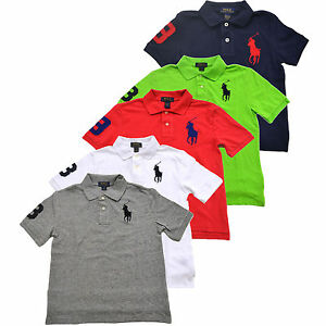 fdca124292ca3 Polo Ralph Lauren Boys Big Pony Polo Shirt Classic Fit Kids Mesh ...