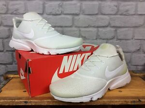 NIKE-AIR-MENS-WHITE-PRESTO-FLY-MESH-RUNNING-TRAINERS-VARIOUS-SIZES