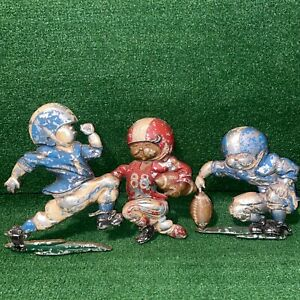 Vintage-1976-HOMCO-Football-Players-Metal-Diecast-Wall-Plaque-Room-Sports-Decor