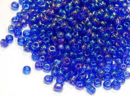 Cuentas de vidrio Rocailles 2mm 11//0 azul oscuro a partir de bala 450g joyas Best a82