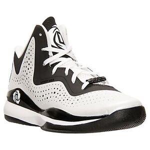 1b16cb721806 Adidas D Rose 773 III mens basketball trainers shoes white black ...