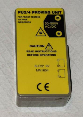 for safety checking rebranded Alpha Proving Unit PU2//4 Proving Unit