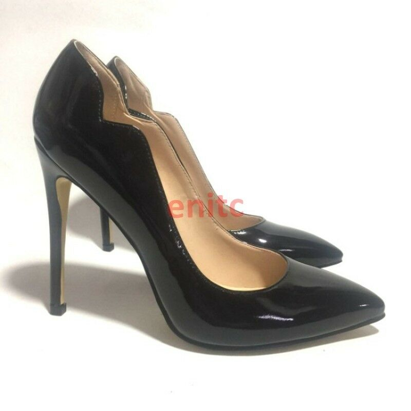 Sexy Patent Leather Stiletto Pointy Toe OL Ladies Pumps Dress shoes Size En31