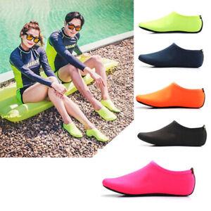 Unisex-Water-Skin-Shoes-Aqua-Sock-Gym-Yoga-Exercise-Beach-Pool-Swim-Slip-On-Surf