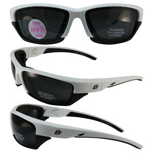 BIRDZ-ORIOLE-2-PADDED-MOTORCYCLE-SUNGLASSES-WHITE-AND-BLACK-FRAME-SMOKE-LENS