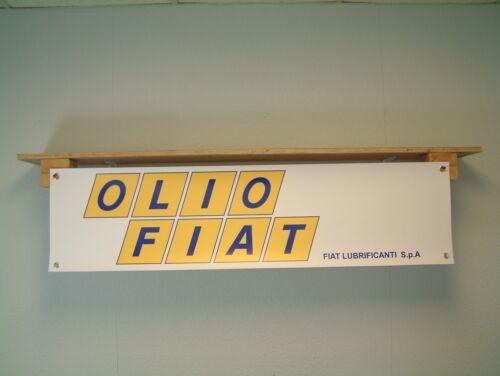 Olio Fiat Banner workshop Garage classic oil advertising Abarth 131 Motorsport