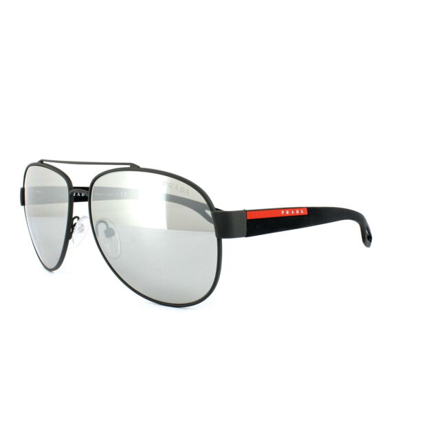 d3ed9abacb9a1 PRADA Sunglasses SPS 55q Matte Gray Black Tig2b0 Authentic
