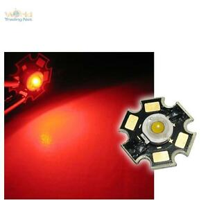 Hochleistungs LED Chip auf Platine 3W ROT HIGHPOWER RED rouge rojo rood