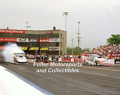 JOHN FORCE TIM WILKERSON 2000 NHRA FUNNY CAR 8X10 PHOTO PONTIAC EXCITEMENT NATS