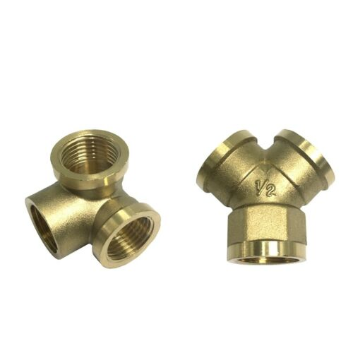 """3 Way G1//2/"""" Female Thread Full Brass Adapter Connector Pipe Fitting,Y Shape"""