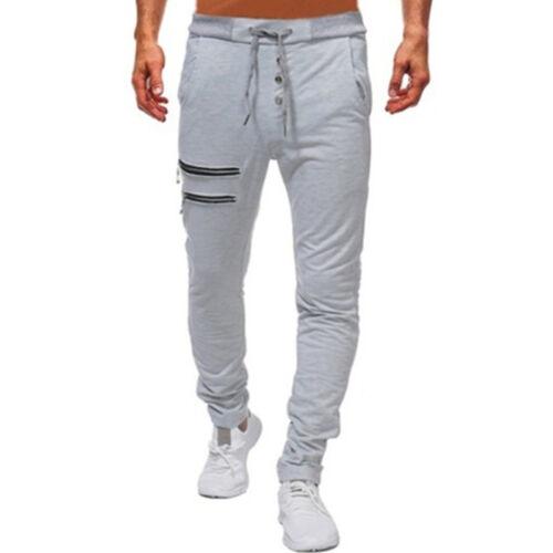 Men Tracksuit Pants Tight Jogging Sports Gym Bottoms Hip Hop Sweatpants Trousers