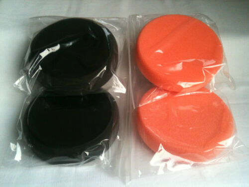 4 Mousse Pads de polissage mousse Polierpad Ø 150 mm 2 Noir//2 Orange