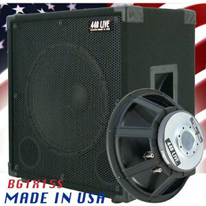 1x15 Bass Guitar Speaker Cabinet 400w 8 Ohms Black Carpet
