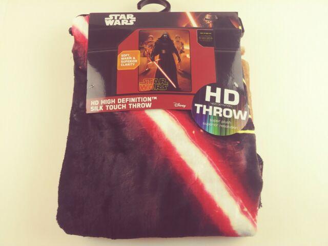 Star Wars Darth Vader Red Lightsaber Silk Touch Throw Blanket Warm NEW