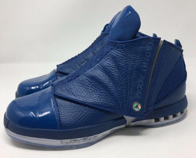 chaussures de séparation 9a018 c803c New Nike Air Jordan 16 Retro 45 Trophy Room Multi Blue 854255-416 Size 9.5