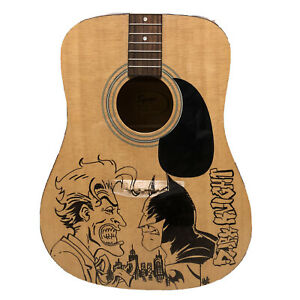 Fender Squire Acoustic Guitar With Hand Drawn Batman Black Knight Graphic