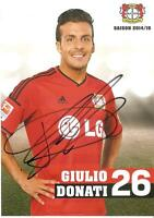 Autogrammkarte Giulio Donati Bayer 04 Leverkusen 2014/15 NEU