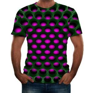 Men-Summer-3D-Printed-Short-Sleeve-Comfort-Blouse-Sports-Casual-Top-T-Shirt-Plus