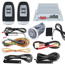Code hopping PKE Car Alarm System Keyless Entry Push Button Start Password Entry