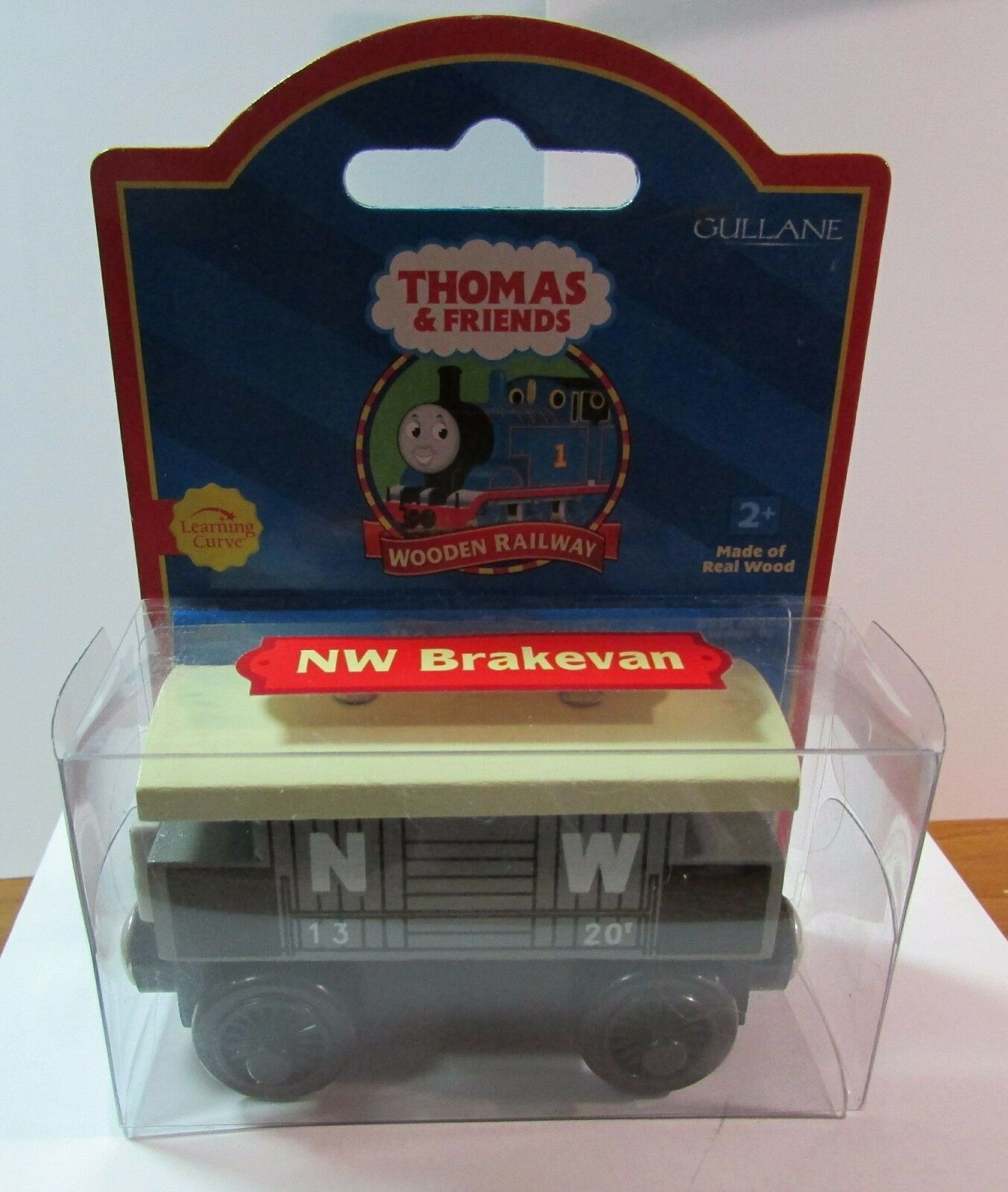 THOMAS THE TANK TRAIN-WOOD NW BRAKEVAN TROUBLSOME RED LABEL 2001 W CARDNIB