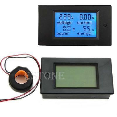 220V 110V AC 80-260V 100A LCD Digital Volt Watt Power Meter Ammeter Voltmeter