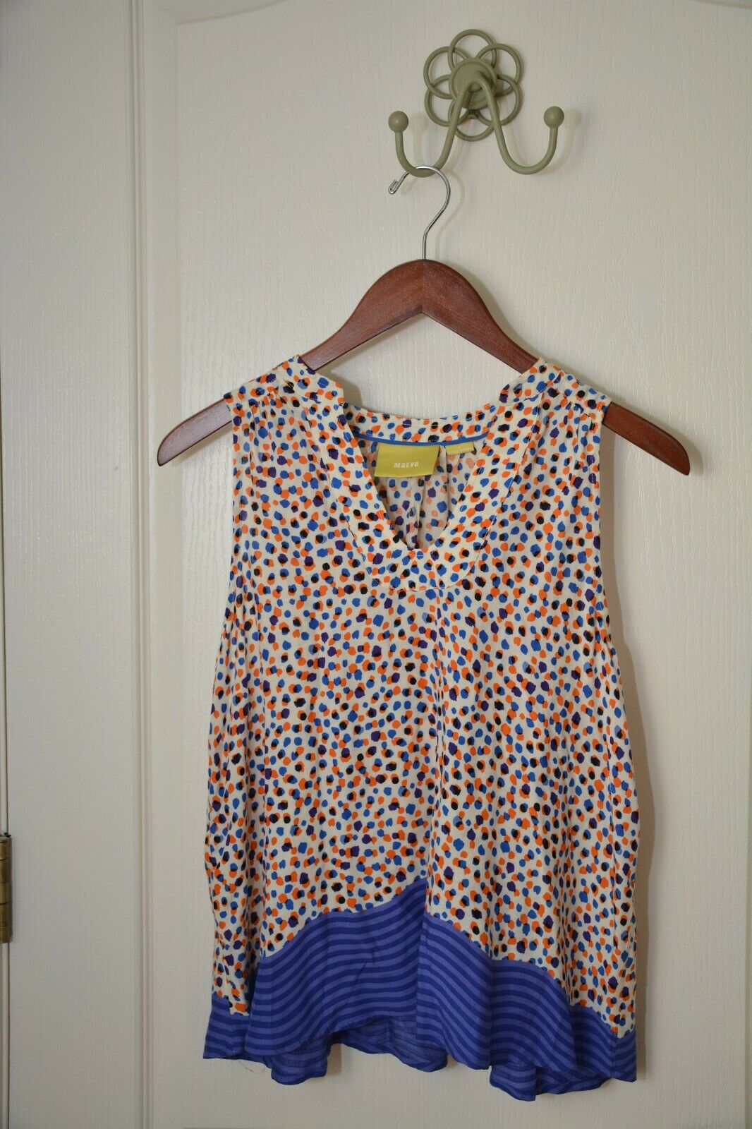 Anthropologie Maeve Sleeveless Polka Dot Blouse Size 4