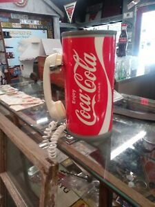 RARE Vintage Paul Nelson Coca Cola ROTARY DIAL Telephone Coke Can