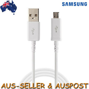 Genuine Samsung Micro Charger Cable Data for Galaxy S7 S5 Tab S Note 3 1.5m BULK