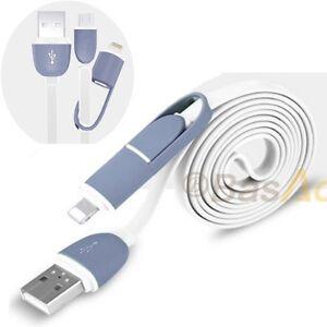 BasAcc / 2in 1 Micro USB Daten-Ladekabel f. iPhone Samsung HTC LG // Grau 1m - Bad Nauheim, Deutschland - BasAcc / 2in 1 Micro USB Daten-Ladekabel f. iPhone Samsung HTC LG // Grau 1m - Bad Nauheim, Deutschland