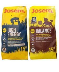 15kg Josera High Energy Balance Hundefutter