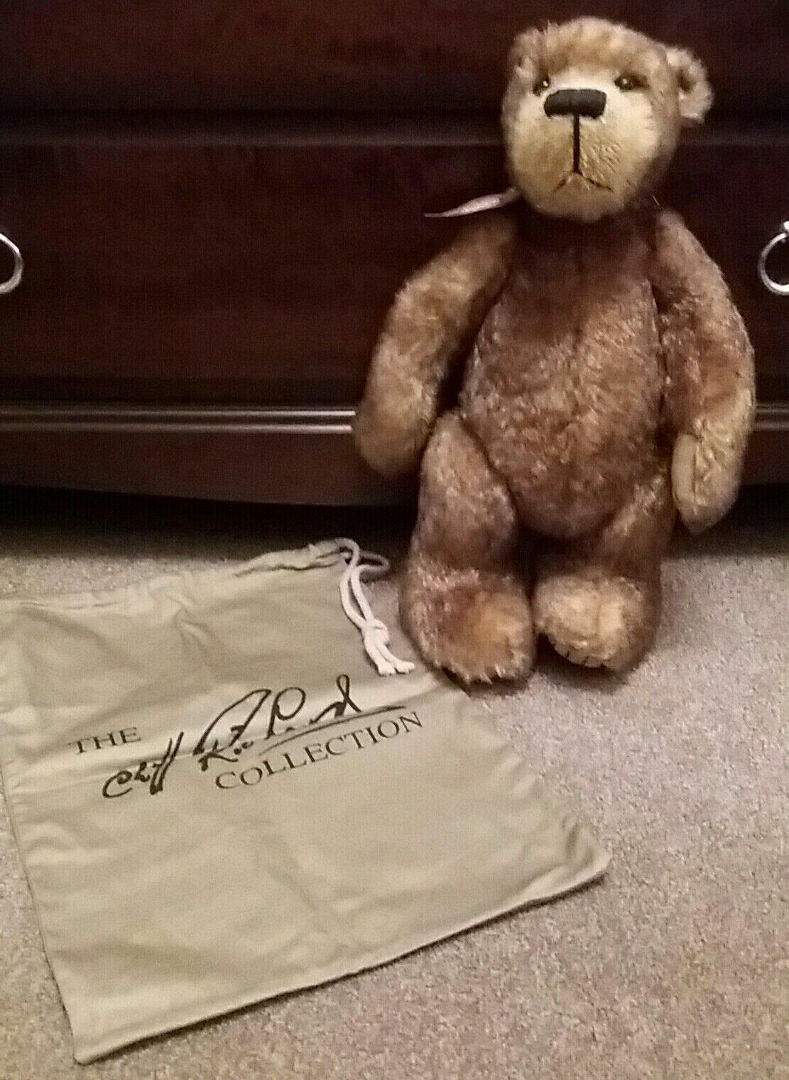 CLIFF RICHARD Mohair Bear  basilico  disegnato da Susan Johnson alto 40cm con sacca