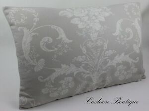 "12,14,16/"" Cushion cover Laura Ashley Josette dove grey//Austen fabric reverse"