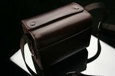 GARIZ Leather Camera Bag Brown for Sony NEX CB-LZSS Small Size