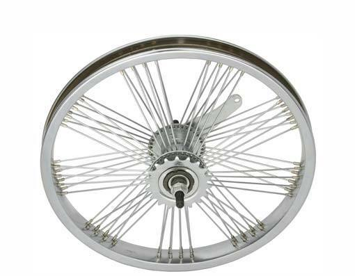 LOW RIDER LOWRIDER  BIKE BICYCLE 16  Fan 72 Spoke REAR Coaster Wheel 14G Chrome  factory direct and quick delivery