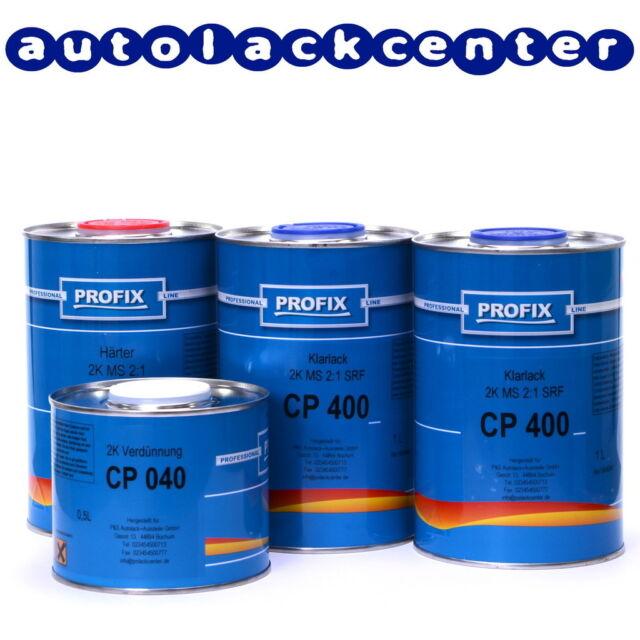 3,5 Liter 2K spezial Klarlack Set mit Härter und Verdünnung von Profix /ECP4020