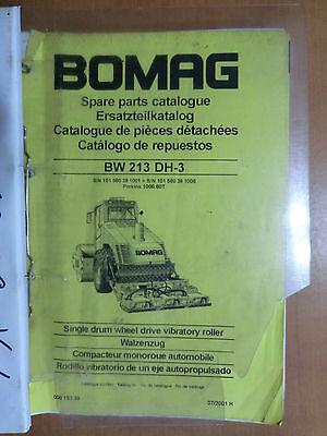 Business & Industrie Liberal Ersatzteilliste Bomag Bw 213 Dh-3 Walzenzug Parts List Vibratory Roller 2001