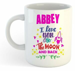 Abbey - I Love You To The Moon And Back Tasse - Drôle Nommé Valentin Tasse w3UA36Ig-08070021-274945757