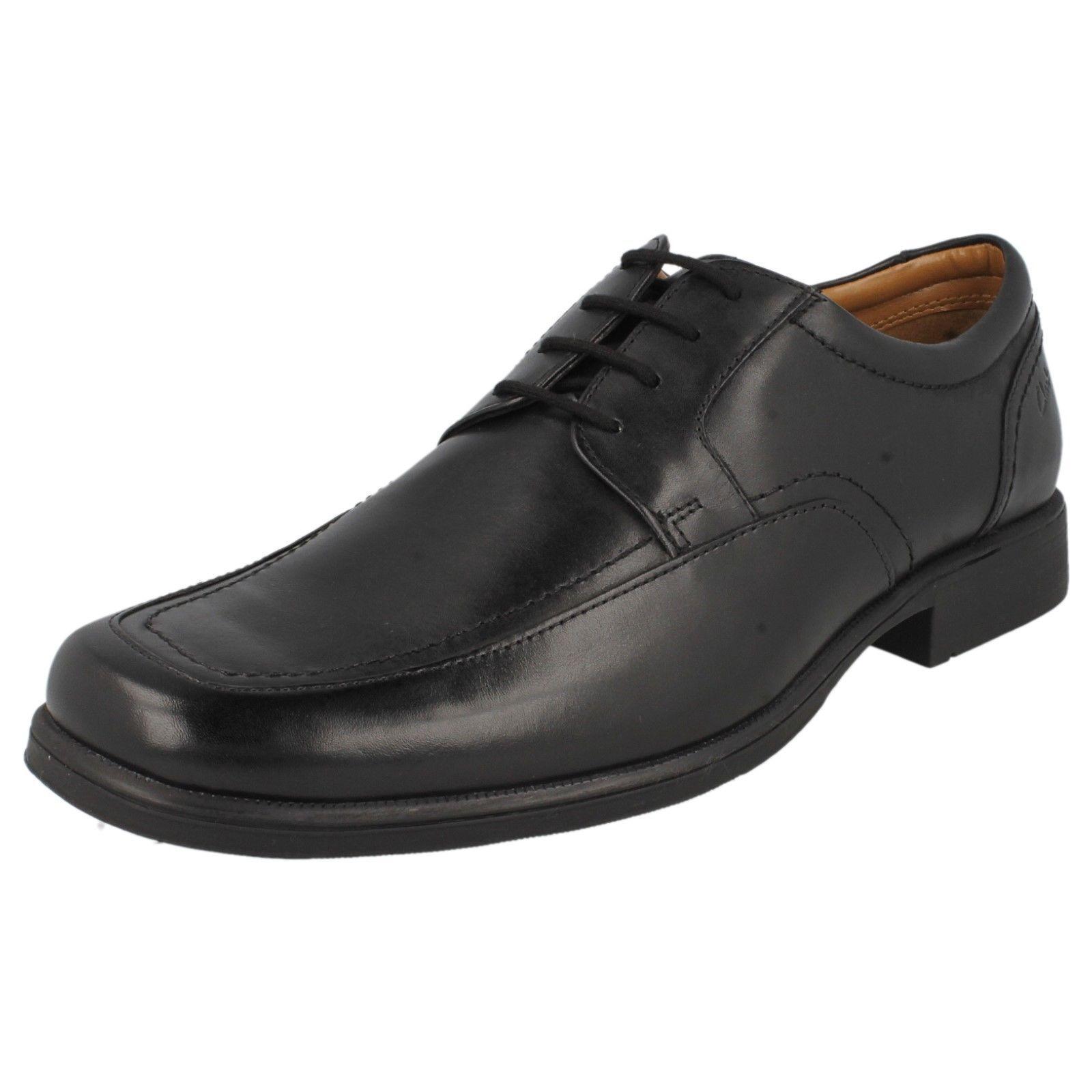 ultimi stili Clarks huckley Molla Nero Pelle Stringati uomo lavoro lavoro lavoro   Scarpa Elegante  la migliore selezione di
