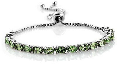 Tsavorite Green Garnet Bracelet 3.560 carats adjustable
